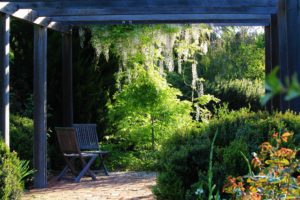 Pergola and chairs